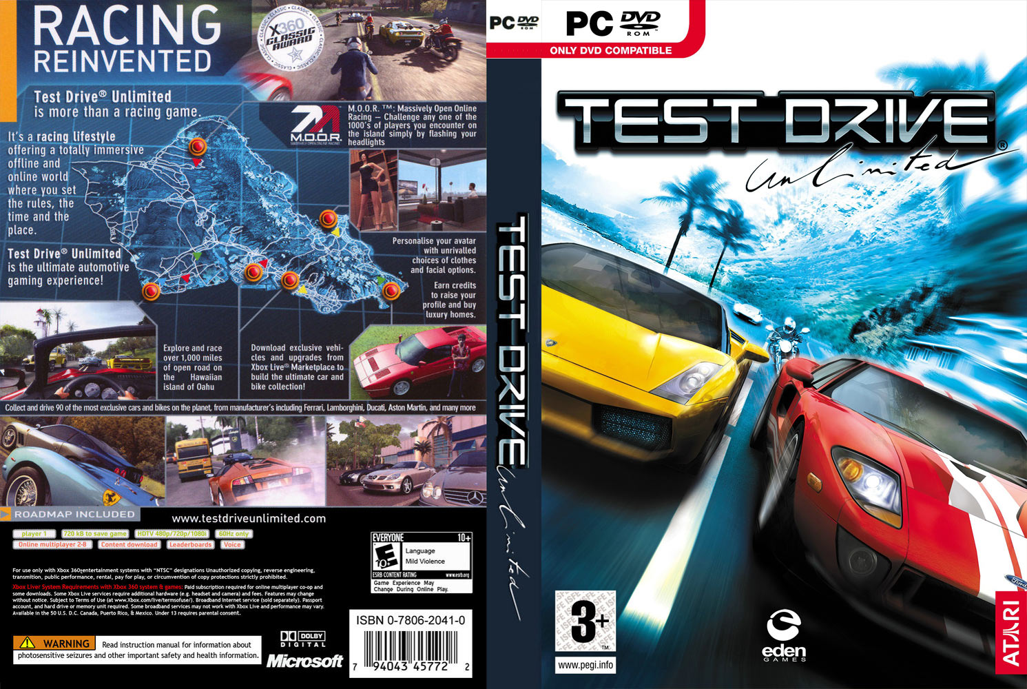 Test Drive Unlimited - DVD obal.