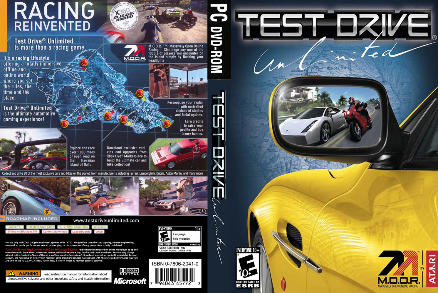 Test Drive Unlimited - DVD obal 2