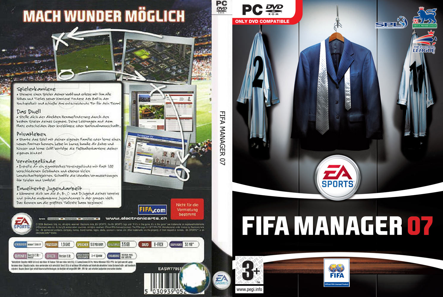 FIFA Manager 07 - DVD obal