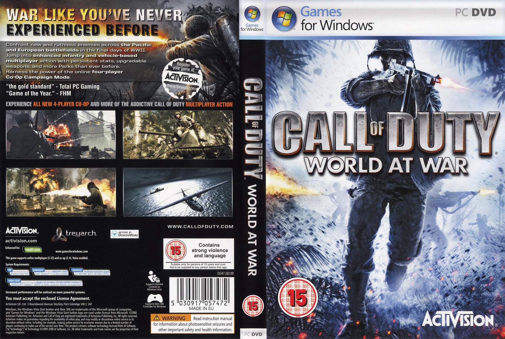 Call of Duty 5: World at War - DVD obal 2