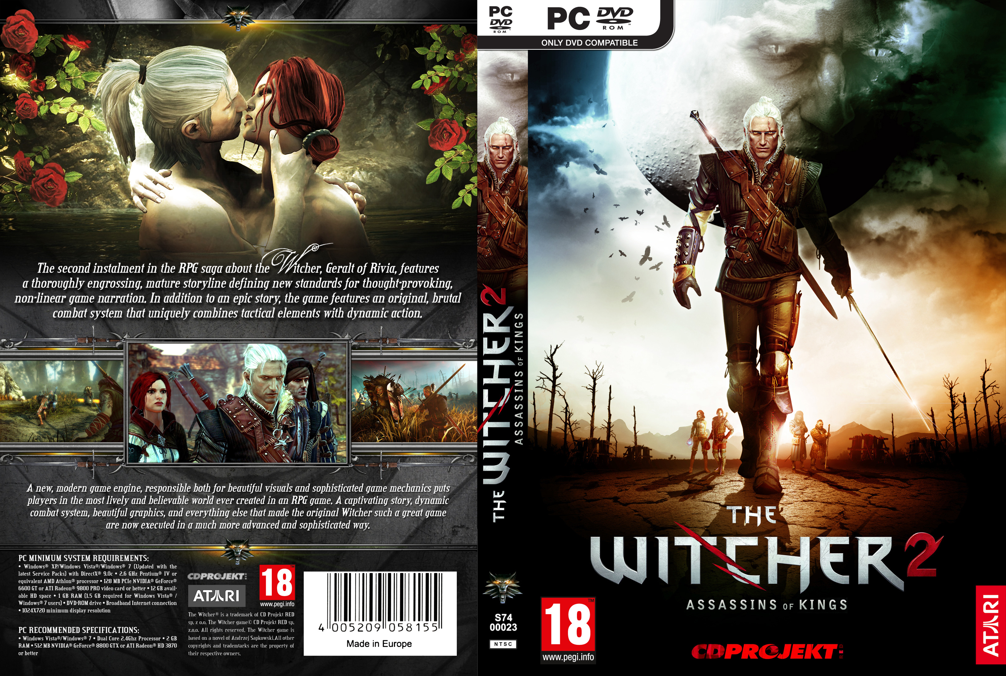 The Witcher 2: Assassins of Kings - DVD obal 2