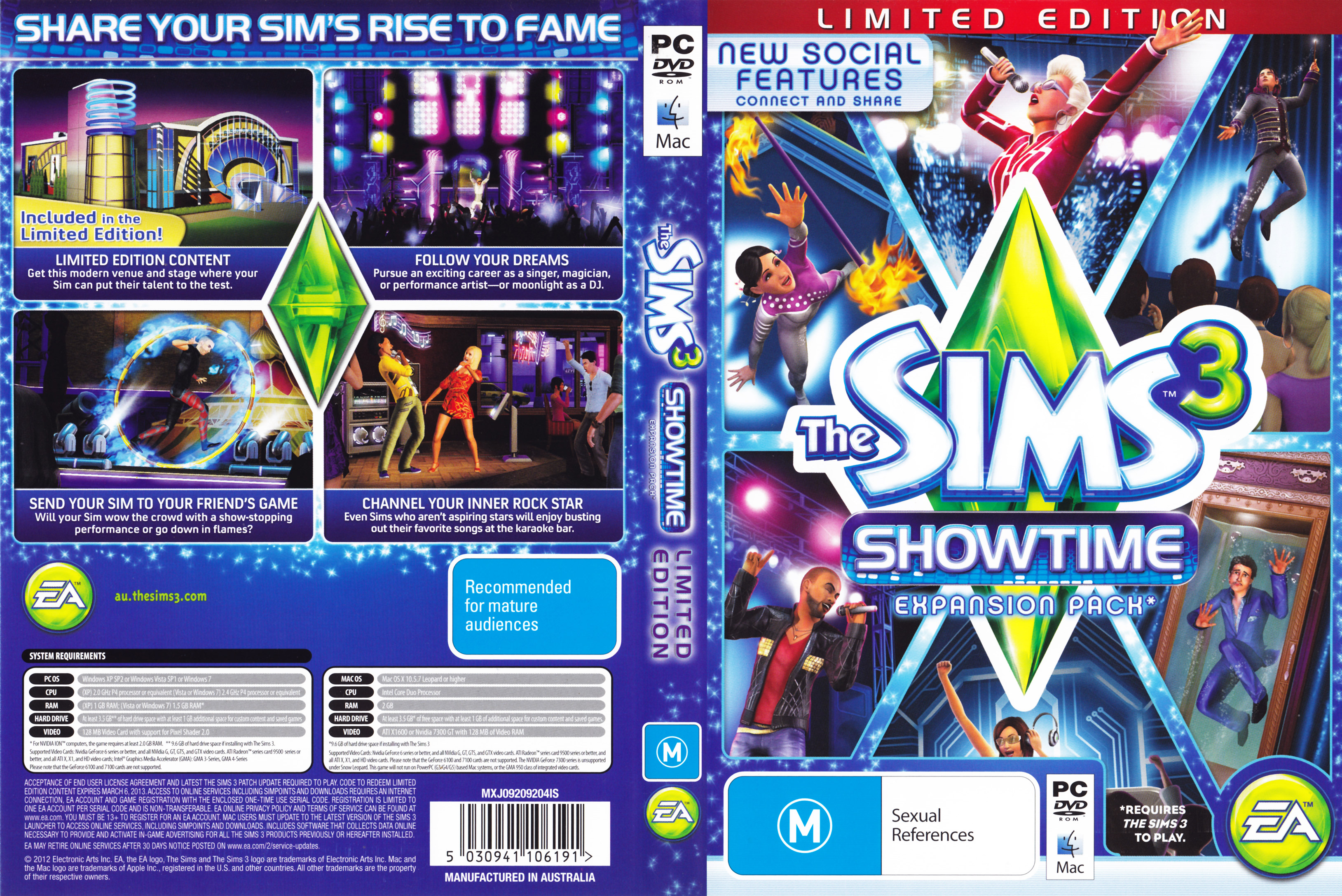 The Sims 3: Showtime - DVD obal