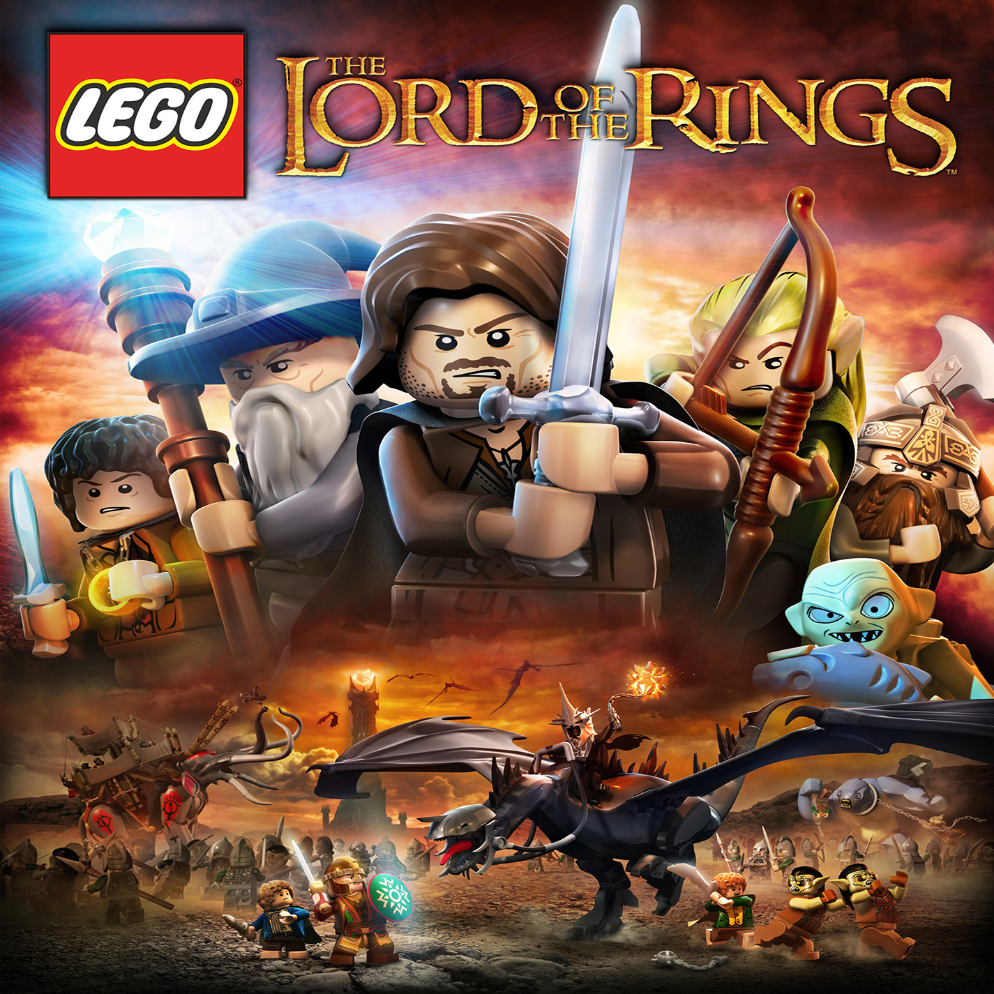 LEGO The Lord of the Rings - přední CD obal