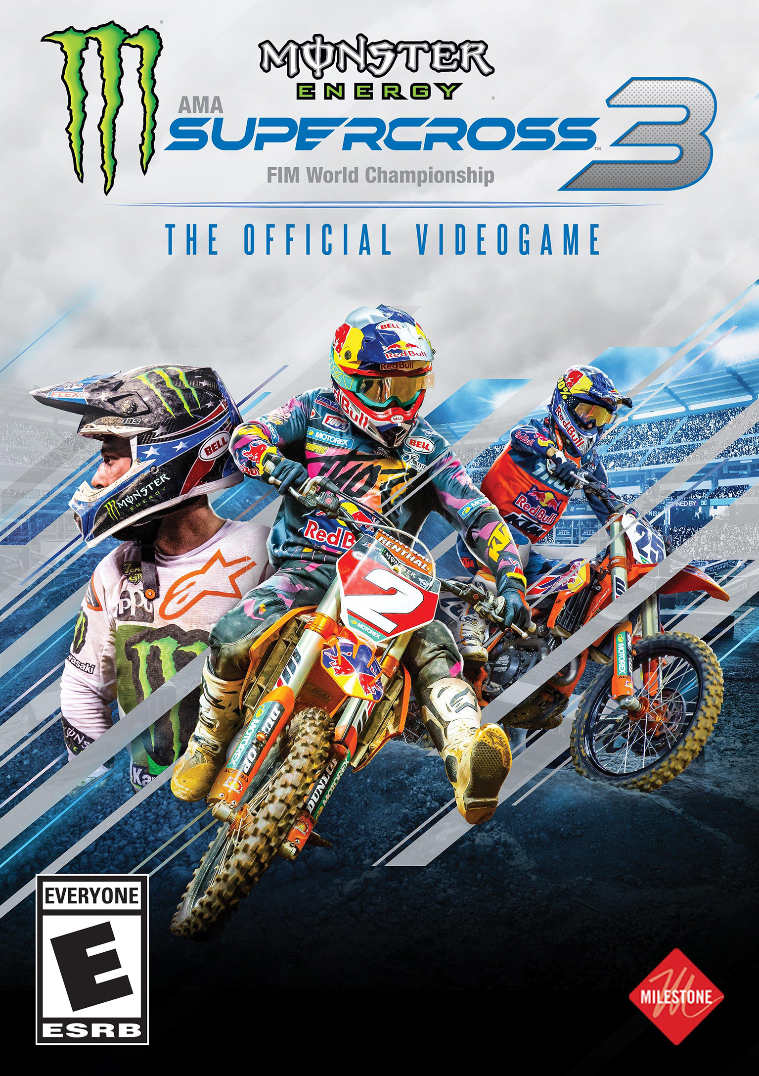 Monster Energy Supercross 3 - The Official Videogame - přední DVD obal