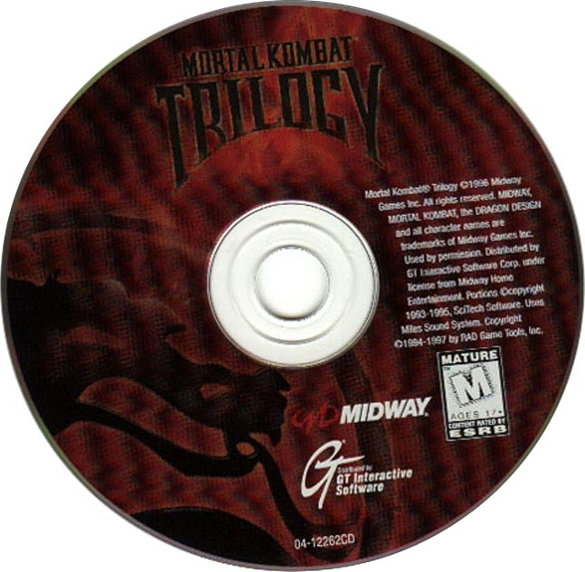 Mortal Kombat Trilogy - CD obal