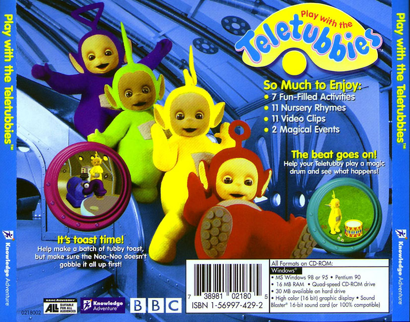 Play with the Teletubbies - zadní CD obal