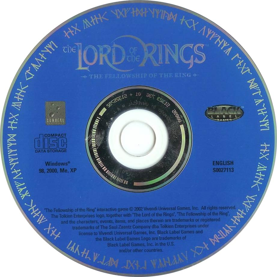 Lord of the Rings: The Fellowship of the Ring - CD obal