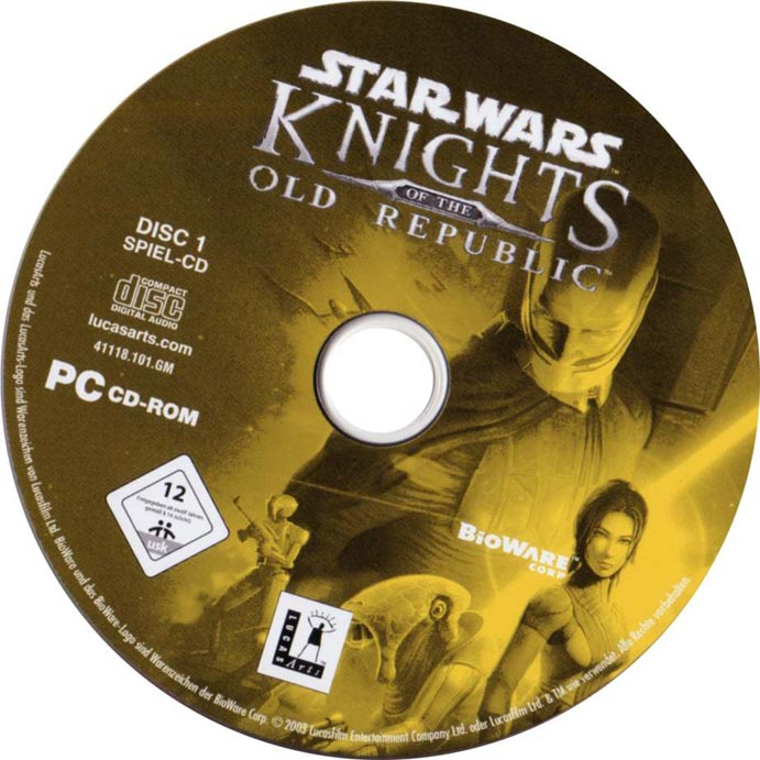 Star Wars: Knights of the Old Republic - CD obal