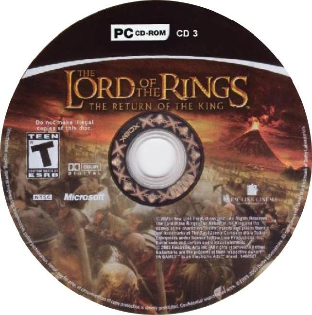 Lord of the Rings: The Return of the King - CD obal 3