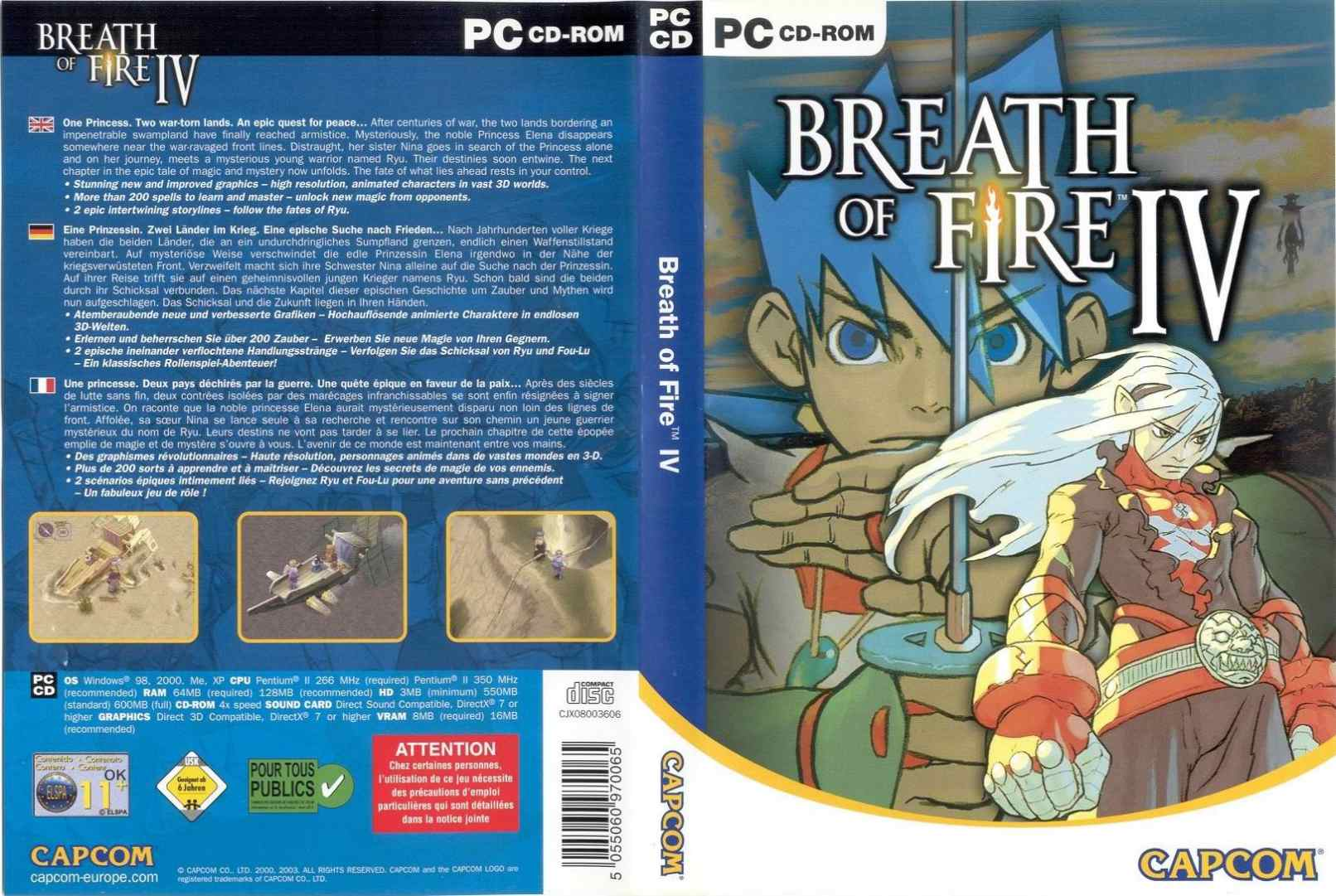 Breath of Fire 4 - DVD obal