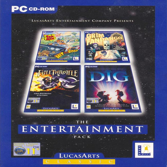 LucasArts Classic: The Entertainment Pack - přední CD obal