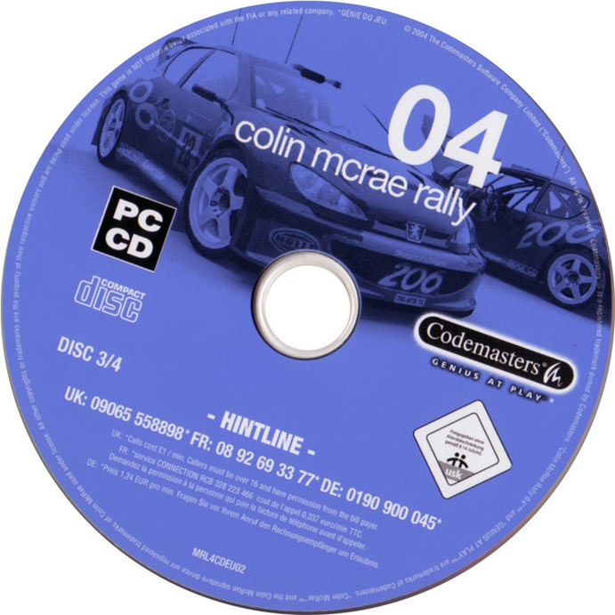 Colin McRae Rally 04 - CD obal 3