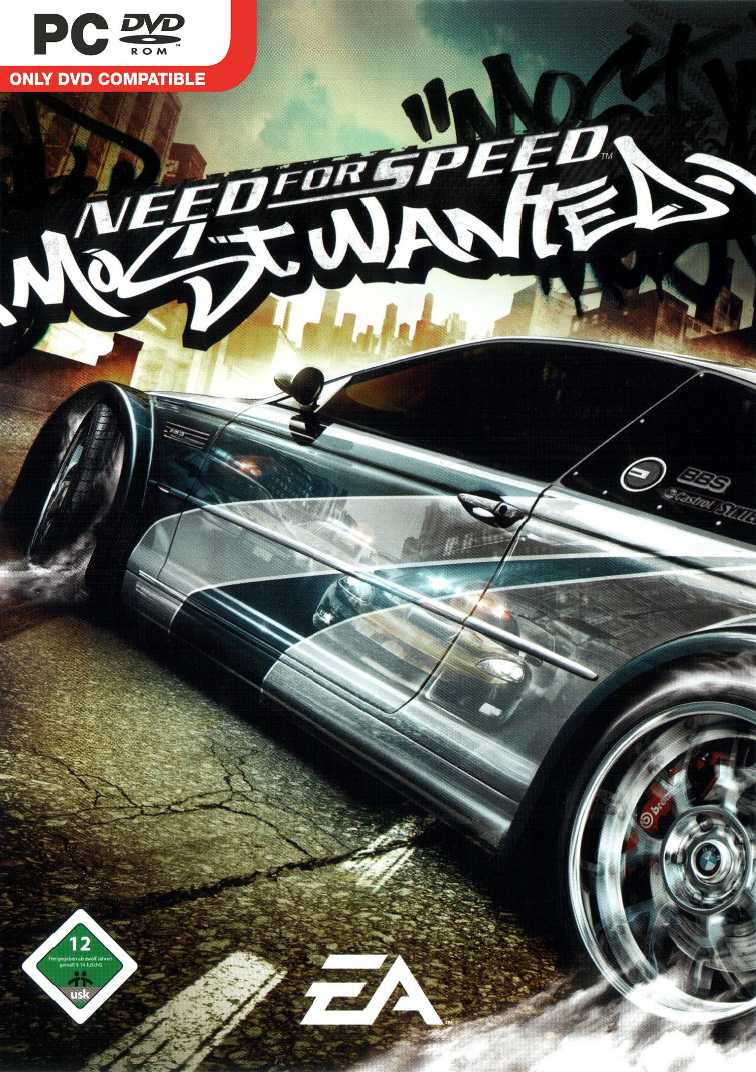 Need for Speed: Most Wanted - přední DVD obal