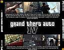 Grand Theft Auto IV - zadný CD obal